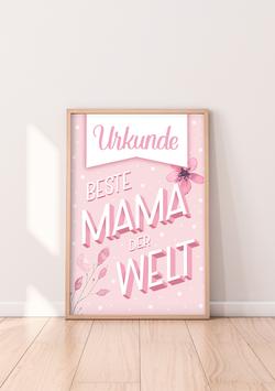 """Urkunde """"Beste Mama der Welt"""""""