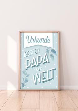 """Urkunde """"Bester Papa der Welt"""""""