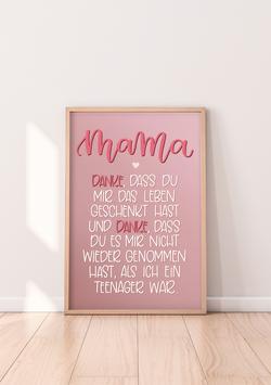 """Poster """"Danke Mama"""""""
