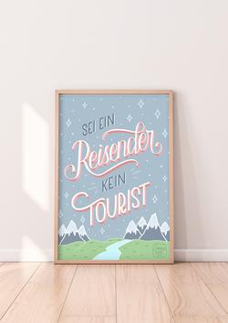 """Poster """"Sei ein Reisender"""""""