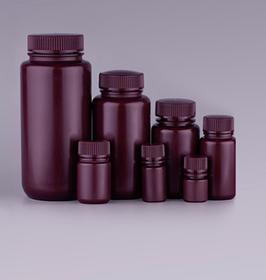 Runde Aufbewahrungsflaschen, Farbe Amber, PP