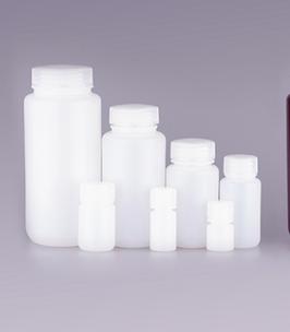 Runde Aufbewahrungsflaschen, Farbe Weiß, HDPE