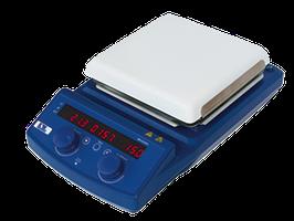 Magnetrührer mit Keramik-Heizplatte 18 x 18 cm,  550°C 1500 rpm 20 Ltr. - Komplettset