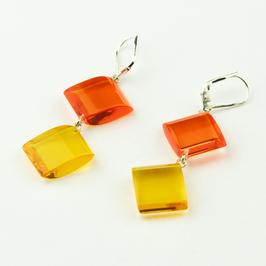 Ohrhänger orange-gelb