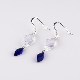 Doppelohrhänger silber-blau