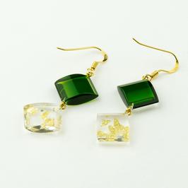 Ohrhänger grün-gold
