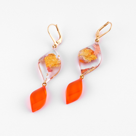 Ohrhänger Kupfermetalleinschluss orange