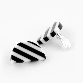 Ohrclip schwarz- weiß