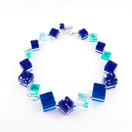 Würfelkette blau- türkis