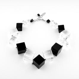 Unikatkette transparent- schwarz