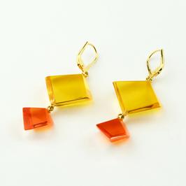 Ohrhänger gelb-orange