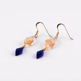 Ohrhänger gold-blau