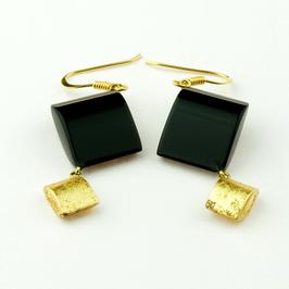 Ohrhänger schwarz-gold