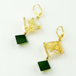 Ohrhänger gold-grün