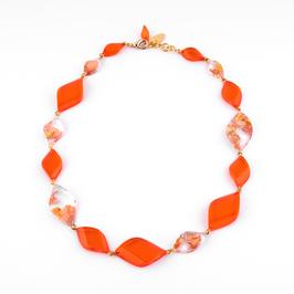 Halskette  Kupfer orange