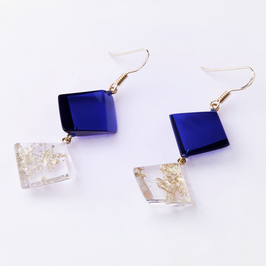Ohrhänger blau-gold