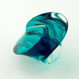 Unikat in strahlend smaragd-transparenter Optik