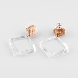 Doppelstecker transparent und gold