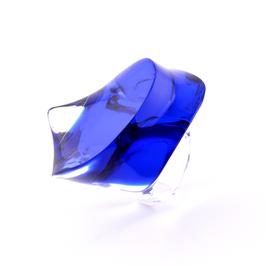 Unikatring in royalblau- transparent