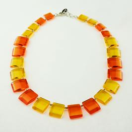 Halskette gelb-orange