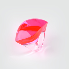 Neonpink- transparenter Ring