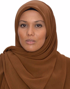 Hijab mousseline marron