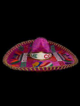 "Mexikanische ""AZTECA"" Sombrero - ROSA & GOLD"