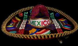 """Mexikanische """"AZTECA"""" Sombrero - WEINROT & GOLD"""