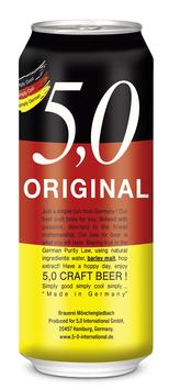 2x Cajas Original 5,0 Craft Beer - 48 latas de 500cc
