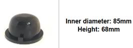 85mm Scheinwerfer Gummi Abdeckung rund tiefer