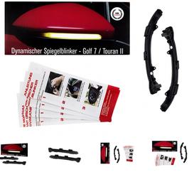 Dynamischer LED Spiegelblinker Seiten-blinker VW Golf 7, Touran 2, E-Prüfzeichen