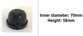 70mm Scheinwerfer Gummi Abdeckung rund tiefer