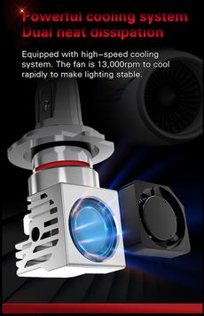 H7 LED M3 250% mehr Licht 1 Stk. für Motorrad