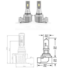 HB4 9006 LED ATOM 150% mehr Licht neu 2018
