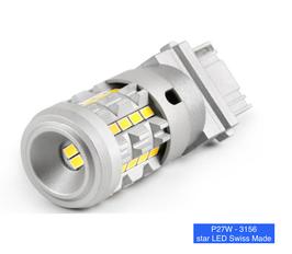 P27W RÜCKFAHRLICHT - 3156 canbus star LED Swiss Made 12-30V