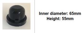 65mm Scheinwerfer Gummi Abdeckung rund tiefer