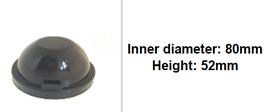 80mm Scheinwerfer Gummi Abdeckung rund tiefer