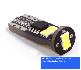 W5W-T10 star LED CANBUS  Swiss Made