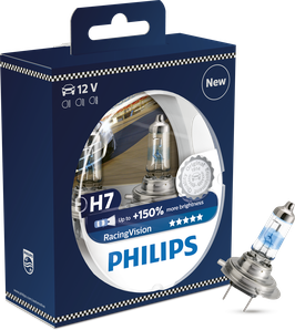 H7 PHILIPS RACINGVISION 150% mehr Licht 12V