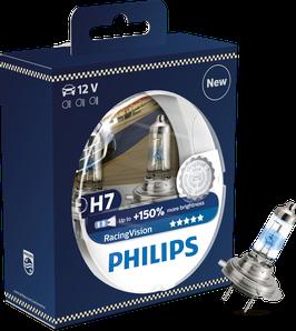 H7 PHILIPS RACINGVISION 150% mehr Licht 12V