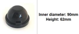 90mm Scheinwerfer Gummi Abdeckung rund tiefer