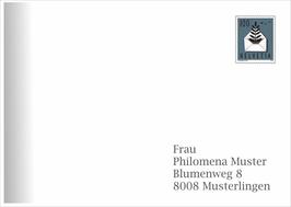 Kuvert Nr. 5 mit Verlauf