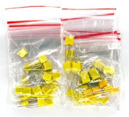 Kondenzatorji folijski komplet 10 vrednosti 50kosov