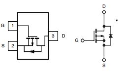 MOSFET P SOT23 SI2301