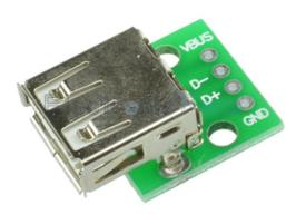 USB/microUSB ženski DIP adapter