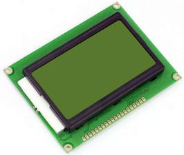 LCD 128x64 grafični  rumen