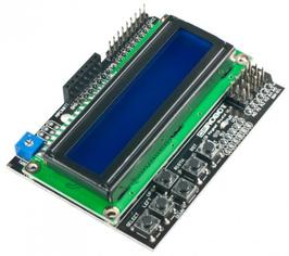 LCD 16x2 karakter moder + tipkovnica