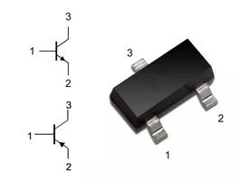 Tranzistor NPN/PNP univerzalni SOT23