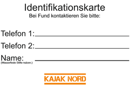 Identifikationskarte Boot