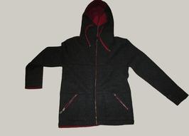 Jacke mit Kapuze anthrazit / rot